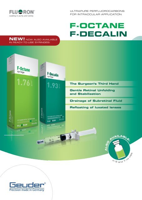 F-Octane® F-Decalin